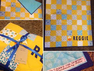 Baby Reggie cot quilt