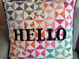 """Hello"" Jumbo Cushion"