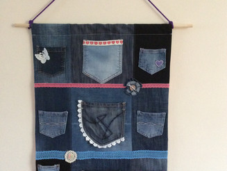 My denim up-cycle  (Denim Pocket Organiser)