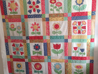 "My ""Bloom"" quilt top done!!"