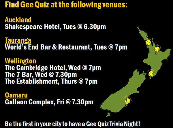 corporate venue entertainment, Gee Quiz, fundraising events New Zealand, trivia quiz night, trivia night, PUB QUIZ, trivia company new zealand, corporate event, fundraiser, affordable quiz nights, kiwis