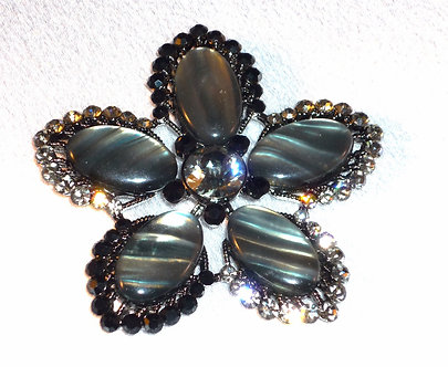 5 Petal Black Flower