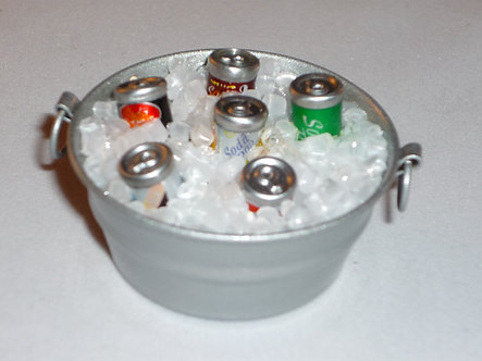 Tube of Ice and canned drinks