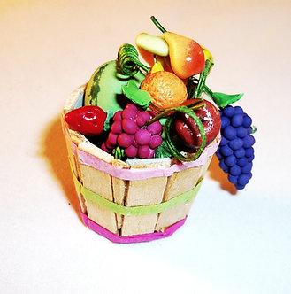 Bushel basket of fruit