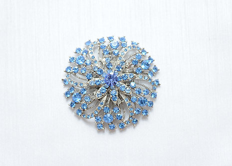 Blue and Silver Crystal Flower