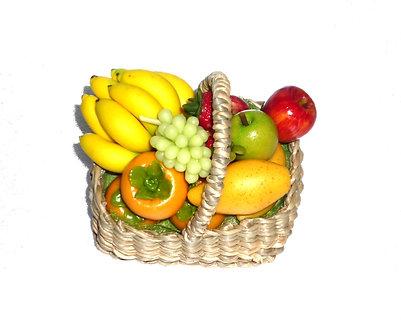 Fruit in a wicker basket
