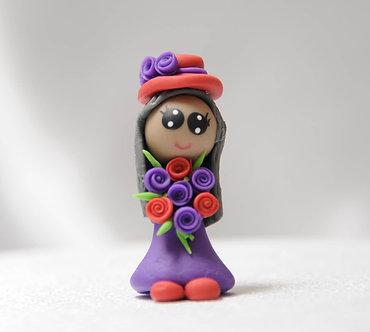 Red Hat Lady in a Purple Dress