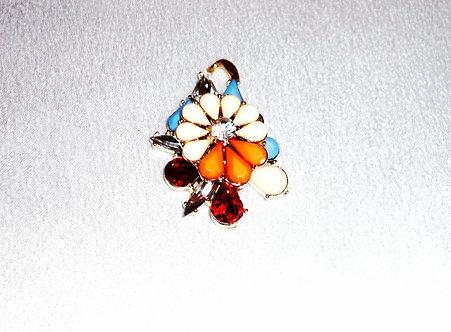 Multicolored Beaded Flower