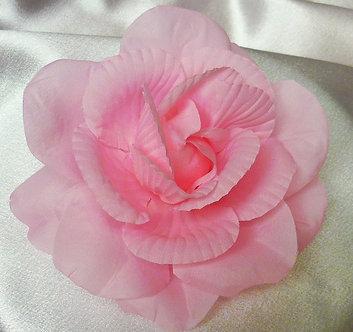 Large Pink Crinkled Petal Flower