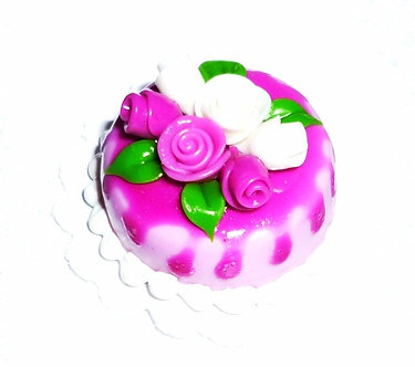 Pink and White Roses Cake