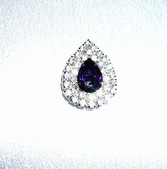 Purple Crystal Teardrop