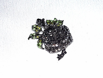 Small Black and Green Crystal Flower