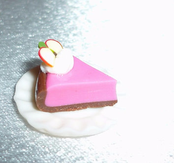 Pink Cake with Apple Slice