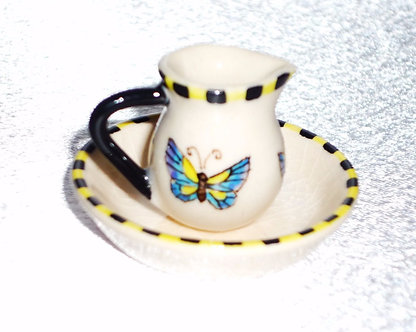 Butterfly Water Pitcher & Bowl Set