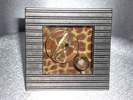 Giraffe Place Setting Shadow Box