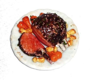 Sliced Roast Beef on a Platter