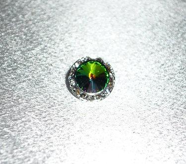 Swarovski Green Rainbow Crystal Tie Clip