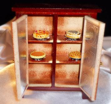 Cherry Wood Pie Cabinet