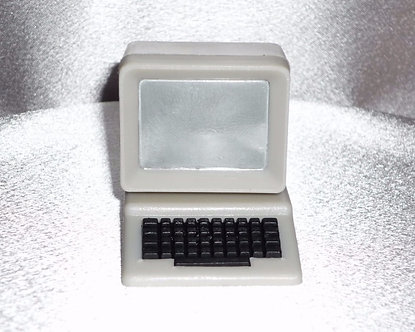 Retro Computer Monitor and Keyboard