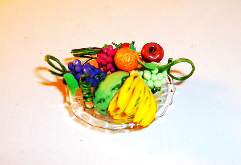 Glass Plate of Fruit