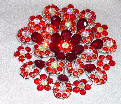 Red & Rainbow Crystal Flower