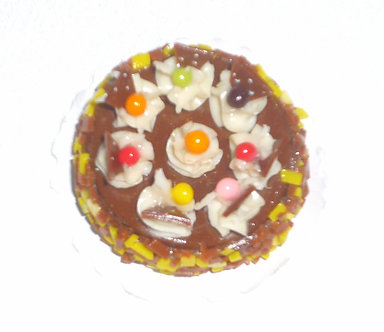 Chocolate Pie with Candy toppings