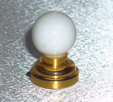White Globe Brass Ceiling Lamp