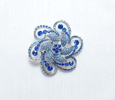 Blue Swirl Flower