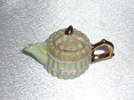Mint green teapot