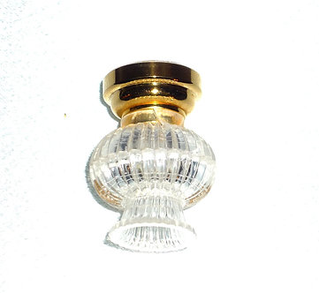 Clear Ribbed Ceiling Lamp