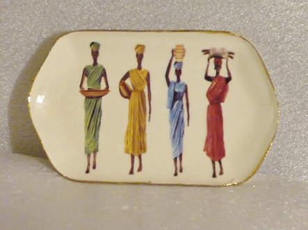 Platter with 4 African Ladies