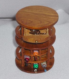 Staged Wooden Wine Cart