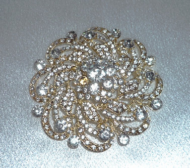 Gold and Silver Crystal Flower