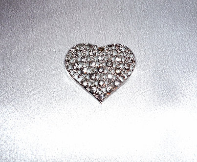 Silver Crystal Heart
