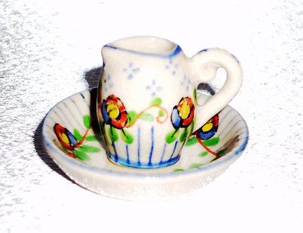 Floral Water Pitcher & Bowl Set