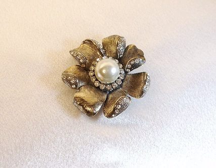 Gold & Diamond Crystal Flower