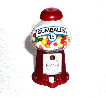 Small Red Bubble Gum Machine