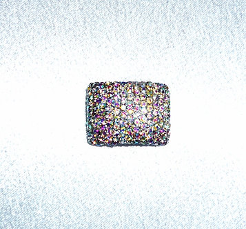 Multicolored Colored Crystal Rectangle