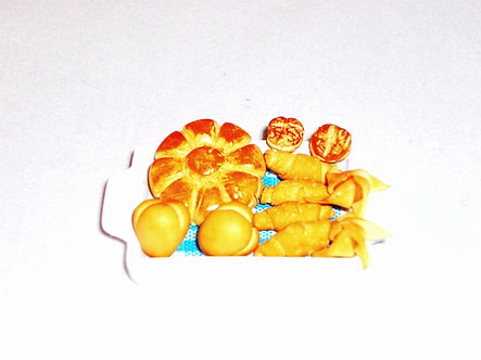 Assorted Bread on Tray
