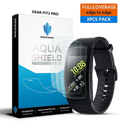 Samsung Gear Fit 2 Pro Full Coverage Screen Protector[3 Packs]