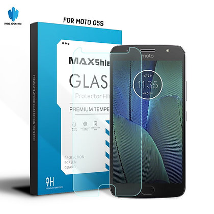 Motorola G5S Plus Tempered Glass LCD Screen Protector Guard [2 Piece]]