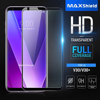 LG V30+ Full Coverage Tempered Glass Screen Protector[2 Piece]