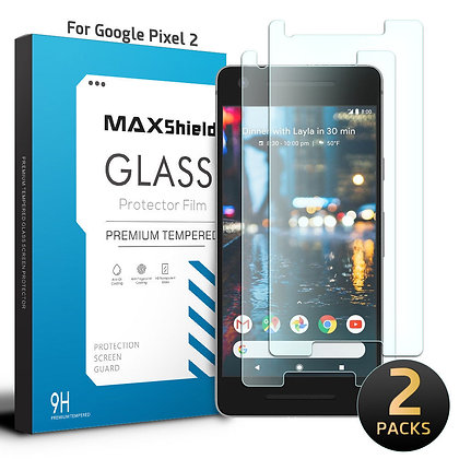 Google Pixel 2 TEMPERED GLASS SCREEN PROTECTOR  [2 Piece]