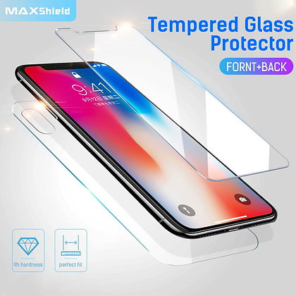 iPhone X Front+Back Tempered Glass Screen Protector[2 Piece]