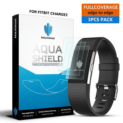 Fitbit Charge 2 Full Coverage Screen Protector [3 Packs]