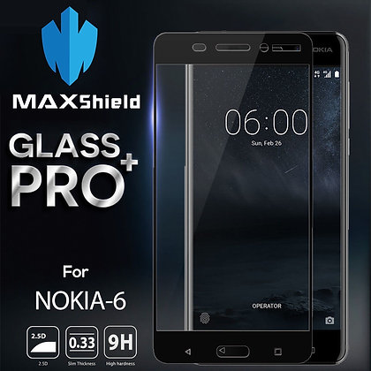 Nokia 6 Coverage Tempered Glass Screen Protector[2 Piece]