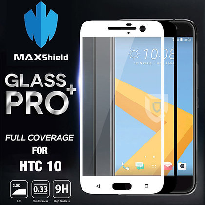 HTC M10 Full Coverage Tempered Glass Screen Protector [2 Pieces]