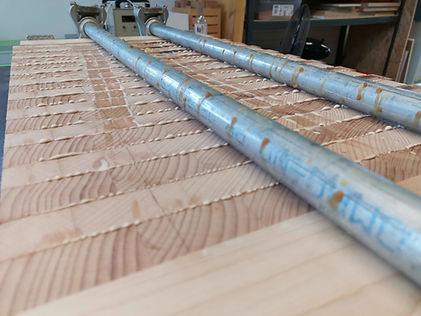 Stirnholz Schneidebrett Produktion
