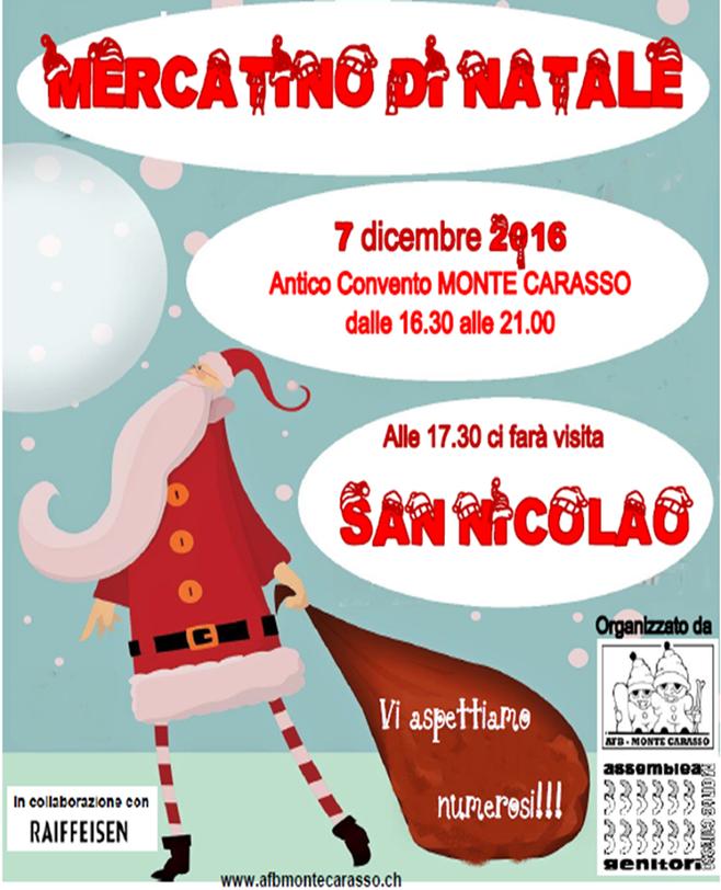 Mercoledì 7 dicembre arriva San Nicolao! Vi aspettiamo!
