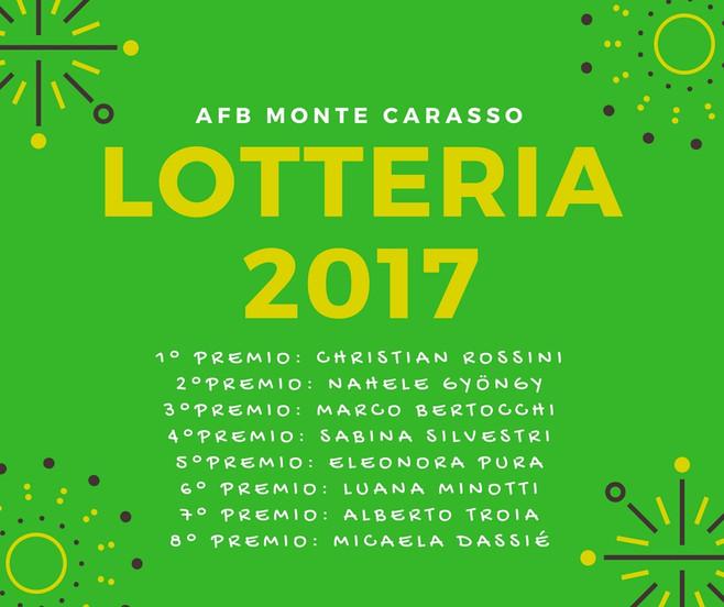 Vincitori lotteria 2017